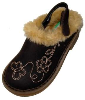 Carter's Toddler Girls Brown Fur Trimmed Clogs Dress Shoes 8