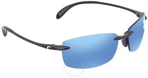 Costa del Mar Ballast Blue Mirror 580P Rectangular Sunglasses BA 11 OBMP