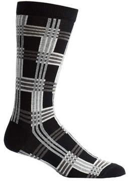 Ozone Men's Cascading Plaid Socks (2 Pairs)