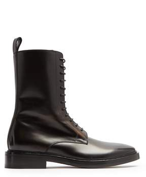 Balenciaga Lace-up leather boots