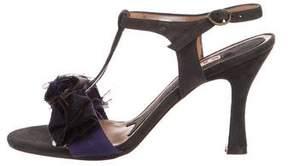Marni Suede Peep-Toe Sandals