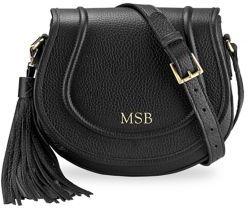 GiGi New York Personalized Jenni Pebbled Leather Saddle Bag