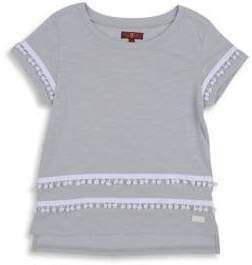7 For All Mankind Girl's Embroidered Hi-Lo Tee