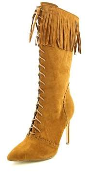 Penny Loves Kenny Org Women Pointed Toe Canvas Mid Calf Boot.