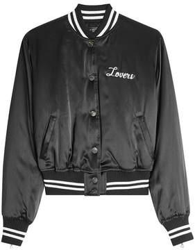 Amiri Lovers Silk Bomber Jacket