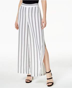 Bar III Striped Split-Leg Pants, Created for Macy's