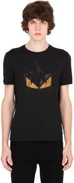 Monster Eyes Embellished Jersey T-Shirt