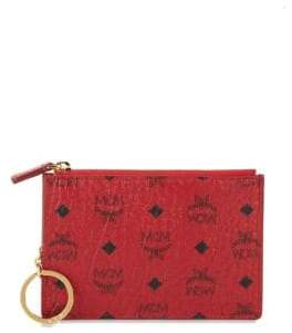 MCM Visetos Coated Canvas Pouch