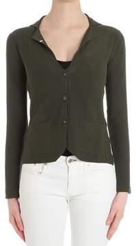 Sun 68 Women's Green Cotton Cardigan.