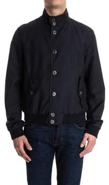 Herno Men's Blue Wool Outerwear Jacket.