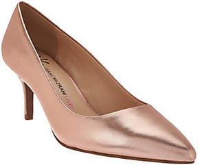 Isaac Mizrahi Live! Leather Pointed Toe Pumps
