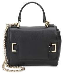 Love Moschino Flap Top Handle Leather Bag