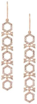 Astley Clarke large 'Varro Honeycomb' diamond drop earrings