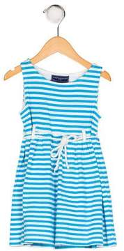 Papo d'Anjo Girls' Striped Knit Dress
