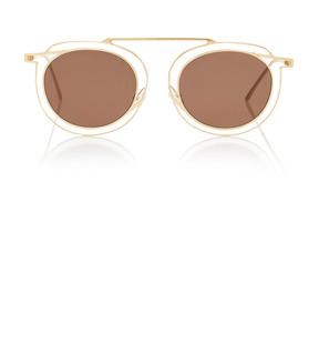 Thierry Lasry Potentially Gold-Tone Round-Frame Sunglasses