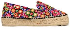 Manebi Embroidered Woven Espadrilles