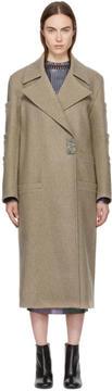 Christopher Kane Beige Wool Pocket Coat