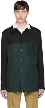 Marni Green and Black Front Pocket Jacket
