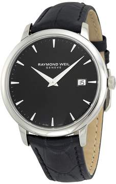 Raymond Weil Toccata Black Dial Black Leather Men's Watch RW-5488-STC-20001