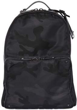 Camouflage Jacquard Nylon Backpack