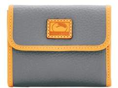Dooney & Bourke Patterson Leather Small Flap Credit Card Wallet - GREY - STYLE