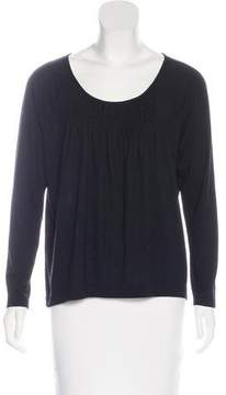 Dries Van Noten Wool-Blend Pleated Top