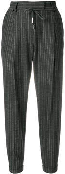 Eleventy striped cropped trousers