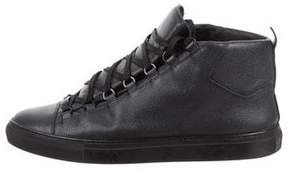 Balenciaga Grain Leather Arena Sneakers