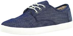 Toms Men's Paseo Chambray Light Blue Ankle-High Canvas Walking Shoe - 7.5M