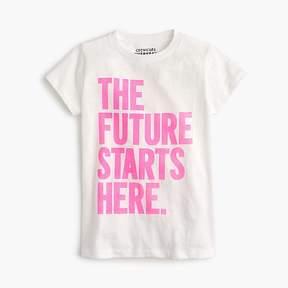 J.Crew Girls' the future starts here T-shirt