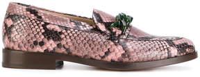 Paul Smith snakeskin effect loafers