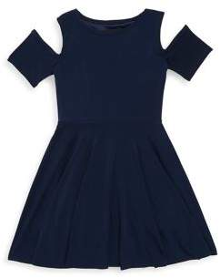 Un Deux Trois Girl's Solid Pleated Dress