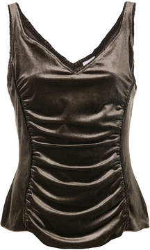 Armani Collezioni ruched front tank top