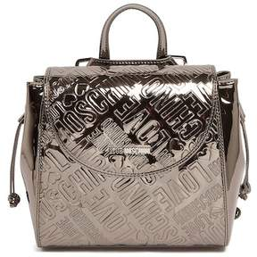 Love Moschino Embossed Metallic Logo Satchel
