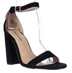 Zigi Loise Ankle Strap Block Heel Sandals, Black.