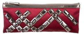Burberry Satin Embellished Clutch - RED - STYLE