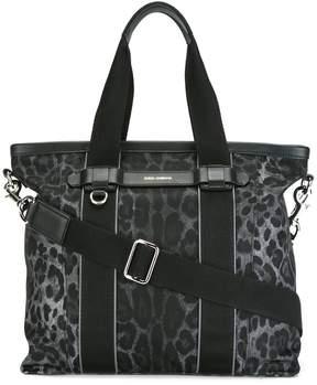 Dolce & Gabbana leopard print shopper - BLACK - STYLE
