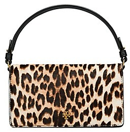Tory Burch Cleo Calf Hair Fold-Over Clutch - NATURAL LEOPARD - STYLE