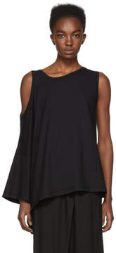 Ann Demeulemeester Black Cold Shoulder T-Shirt