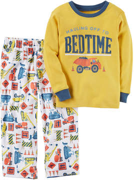 Carter's Toddler Boy Graphic Top & Patterned Microfleece Bottoms Pajama Set