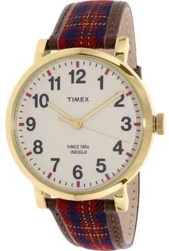 Timex Men's Heritage TW2P69600 Multi Brown Leather Quartz Dress Watch