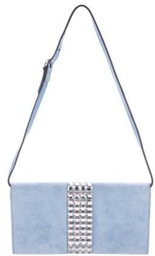 Gucci Suede Crystal Wallet On Chain - BLUE - STYLE