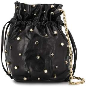 RED Valentino RED(V) studded drawstring pouch