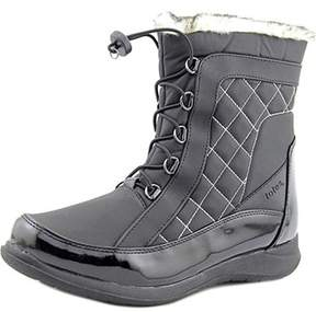 totes Lisa Women Round Toe Synthetic Black Snow Boot.