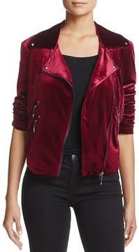 Bagatelle Velvet Moto Jacket