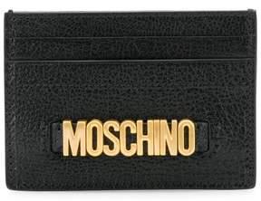 Moschino logo plaque cardholder