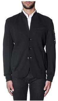 Diesel Black Gold Men's Black Cotton Cardigan.