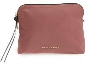 Burberry Large Nylon Pouch - Pink - PINK - STYLE