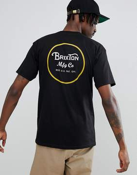 Brixton Wheeler T-Shirt With Back Print