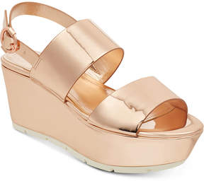 GUESS Kaelan Metallic Flatform Sandals Women's Shoes